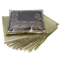 Golden Saree Packing Cover (Pack of 10)