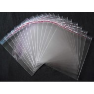 Transparent Plastic Cover or BOPP Bags with self adhasive Tape Pack of 500grm (10x14)