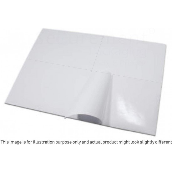 EasyShip Sticky Label - 400 Labels (100 Sheets) A4 Size Sheet with 4 Pre-Cut Labels Per Sheet to Print Order Labels & Invoices
