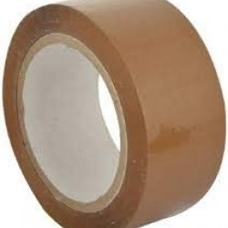 Cello Brown Tape 2 inch/48mm Width x 100 Meter Length - Pack of 6